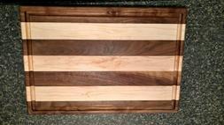 Hand crafted cutting board Black walnut & Maple
