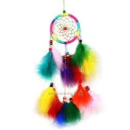 Handmade Colorful Dream Catcher Feather Crafts Handmade Home