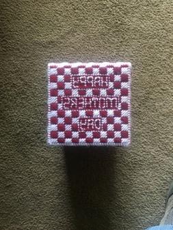 Handmade Happy Mothers Day Gift Box- Burgundy/White