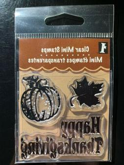 DIMENSIONS CRAFTS Happy Thanksgiving Clear Mini Scrapbooking