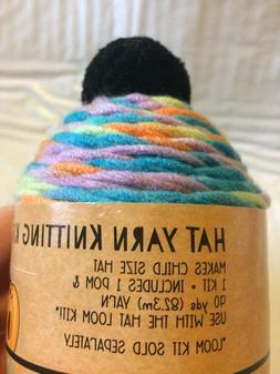 Hat Yarn Knitting Kit Child Size Hat Craft Project Pom 90yds