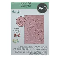 Hearts Embossing Folder 3D Sizzix Craft Folders Wedding,Love