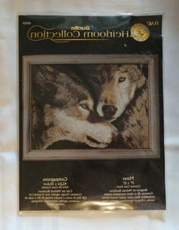 Bucilla Heirloom Collection Mates Wolves Counted Cross Stitc