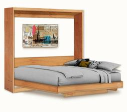 Horizontal Queen Wall Bed / Murphy Bed with Table Woodworkin