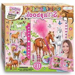 SMITCO Horse Gifts for Girls - Scrapbook Craft Kit for Kids