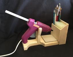 Hot Glue Gun Holder Regular & Mini Original Wood Stand Organ
