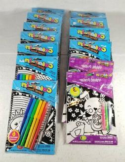 HUGE Lot Of 13 Brand New Darice Kid's Color-In Velvet Poster