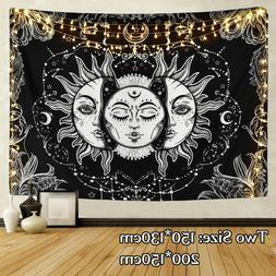 Indian Mandala Wall Hanging Black & White Hippie Tarot Bedsp