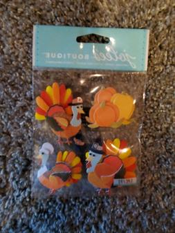 Jolee's Boutique Dimensional Stickers - Turkey Characters
