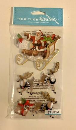 Jolee's Boutique Classic Santa & Reindeer Dimensional Stic