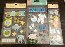 Jolee's Recollections Baby Boy Craft Shower Stickers Embel