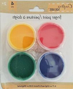 Kids Finger Paint Kit Red Yellow Green Blue Nontoxic 3.08 Oz