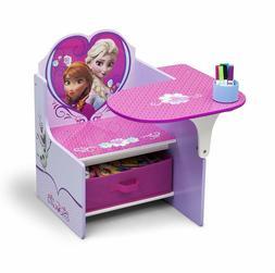 Kids Pretend School Desk Frozen Anna Elsa Table Chair Arts C