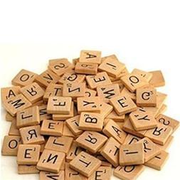 Kids Wooden Scrabble Tiles Black Letters Tiles Crafts Wood A