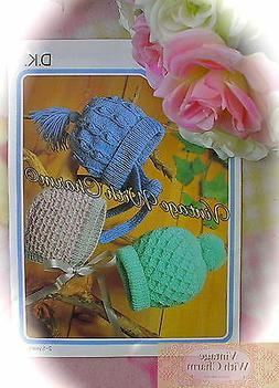Knitting Pattern Children's Hats, 3 Cosy Styles & 3 Sizes, T
