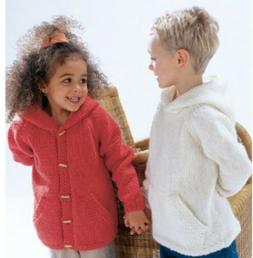 KNITTING PATTERN FOR HOODED JUMPER & CARDIGAN-AGE 2-3 TO 12-