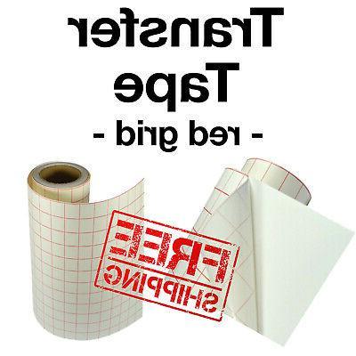 red grid transfer paper tape for vinyl