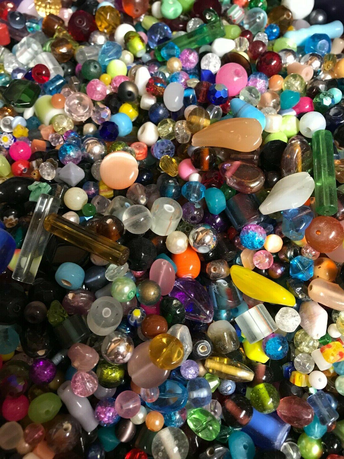 ~100~ Glass Beads Bulk Mixed Craft Grab Gift*