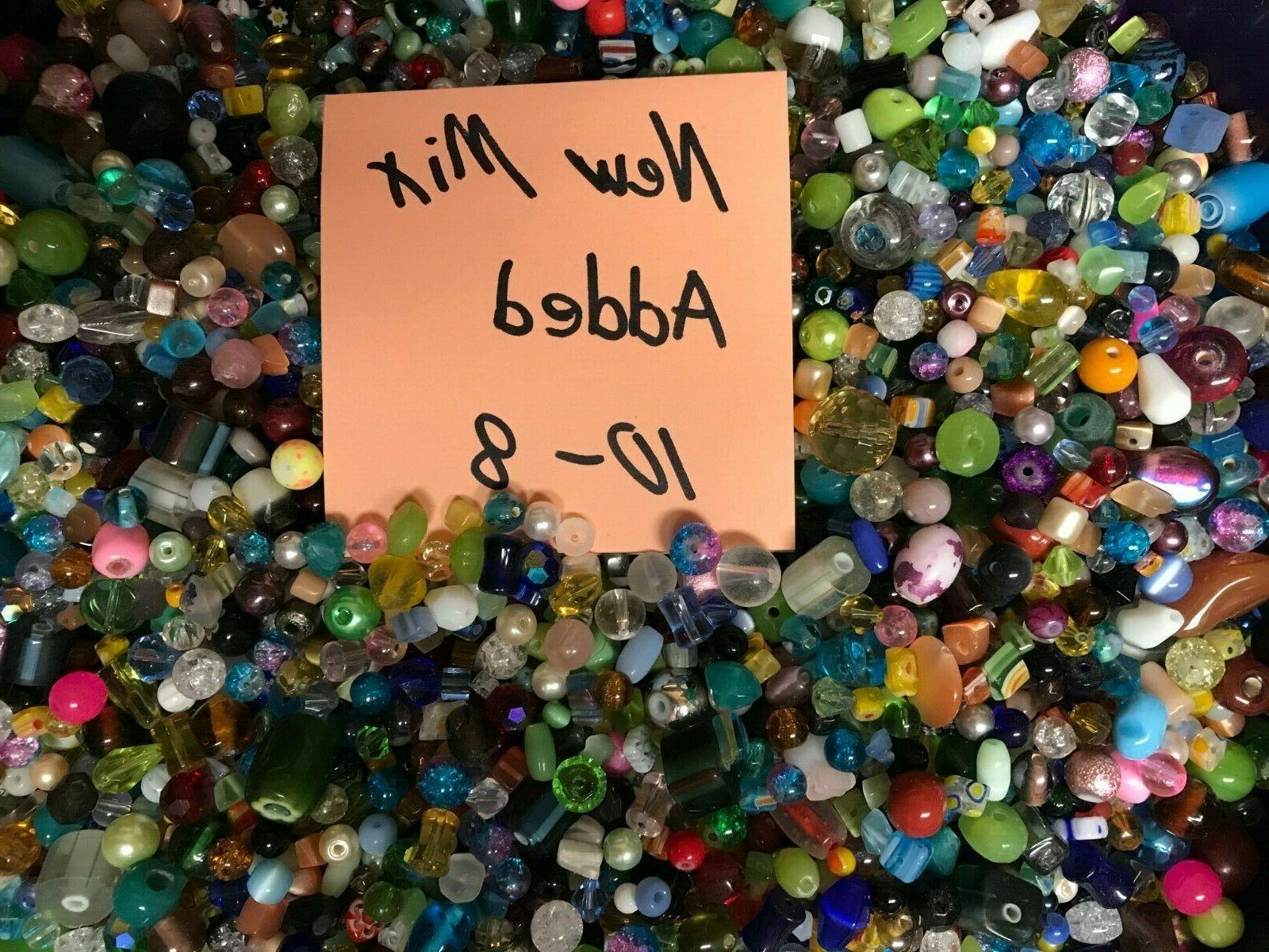 100 piece glass loose beads bulk mixed