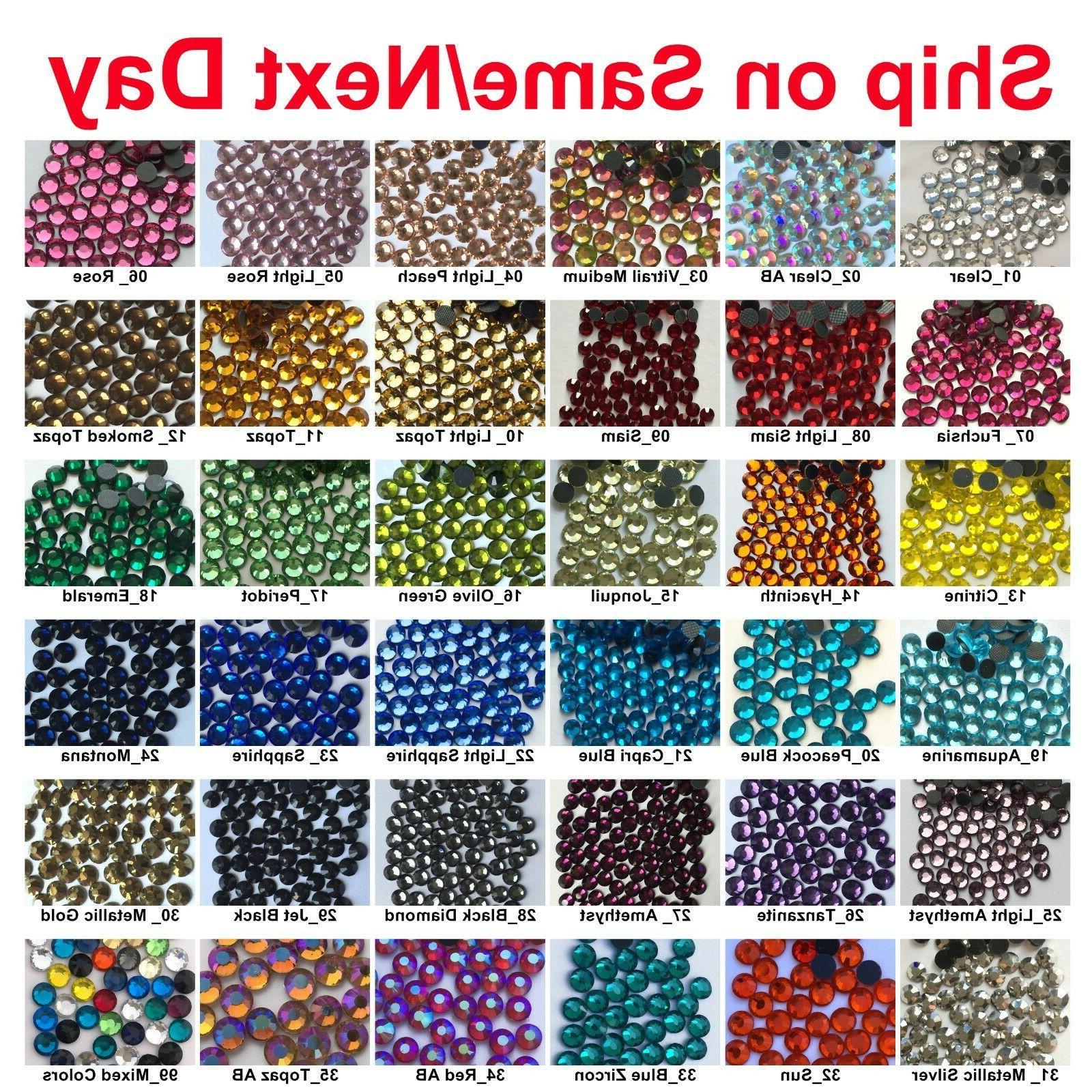 1440 pcs dmc iron on hotfix crystal