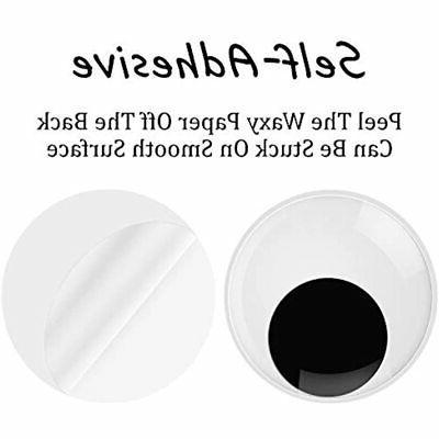 2/3/4 Inch Wiggle Eyes Back Pack Large Black