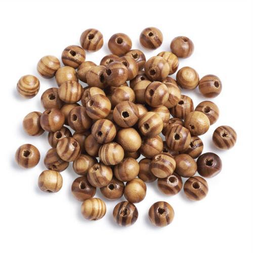 200pcs Brown Beads Round Craft /