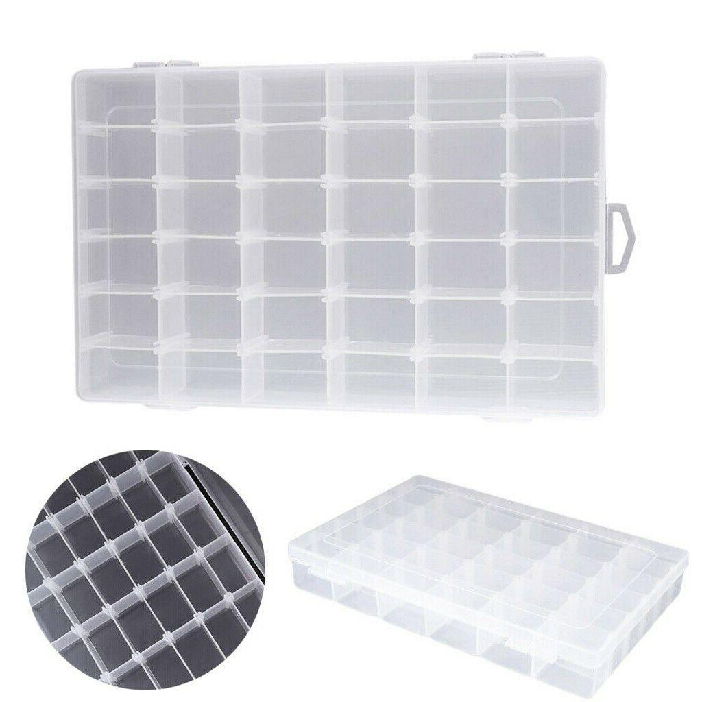 36 Craft Plastic Box Bead Storage