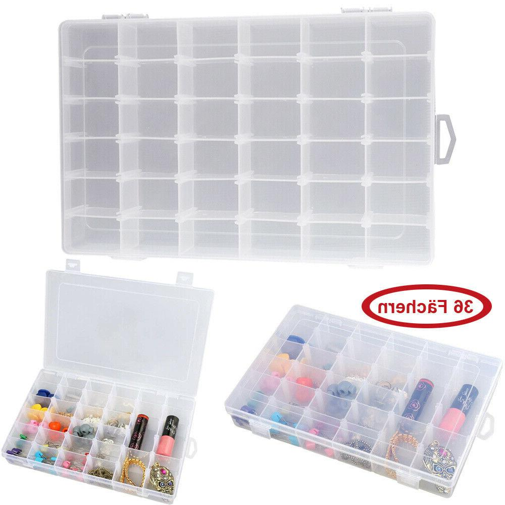 36 compartment craft organizer plastic box jewelry