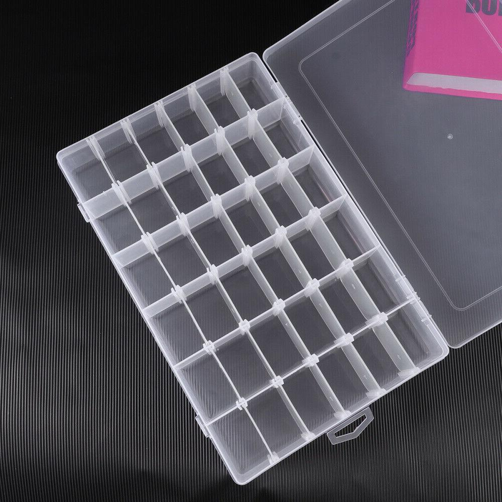 36 Compartment Craft Plastic Box Jewelry Storage Container