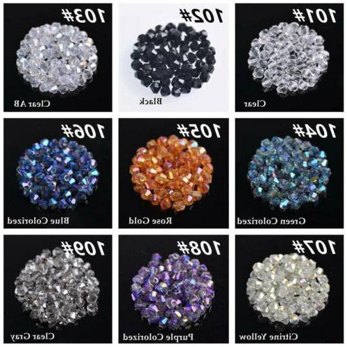 3mm 4mm 8mm Bicone Loose Beads Jewelry Making