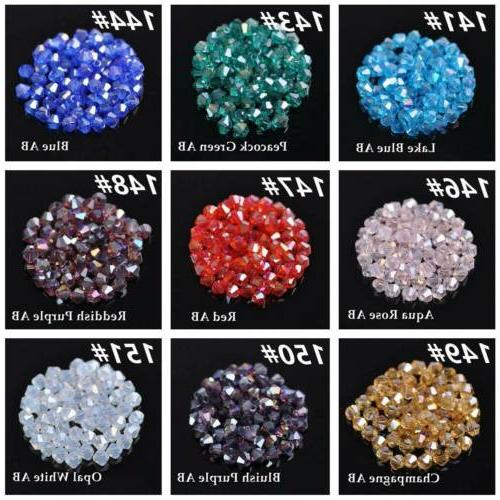 3mm 4mm Bicone Crystal Glass Loose Making
