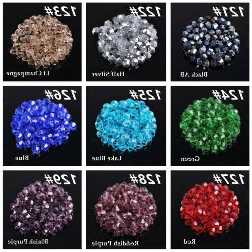 3mm Bicone Crystal Loose Beads Jewelry