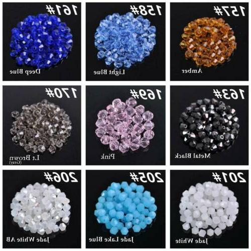 3mm 6mm Bicone Faceted Loose Beads Making