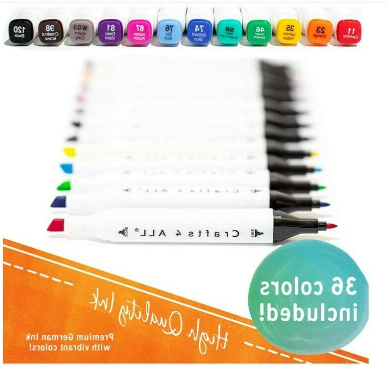 4 Fabric Markers Permanent Bleed Bright Dual