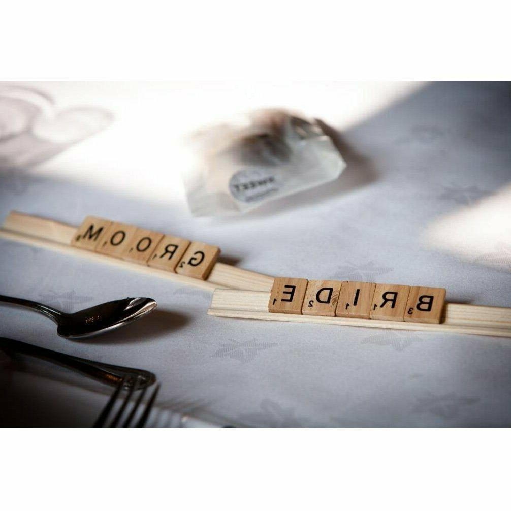500pcs Wooden Scrabble Game &Crafts