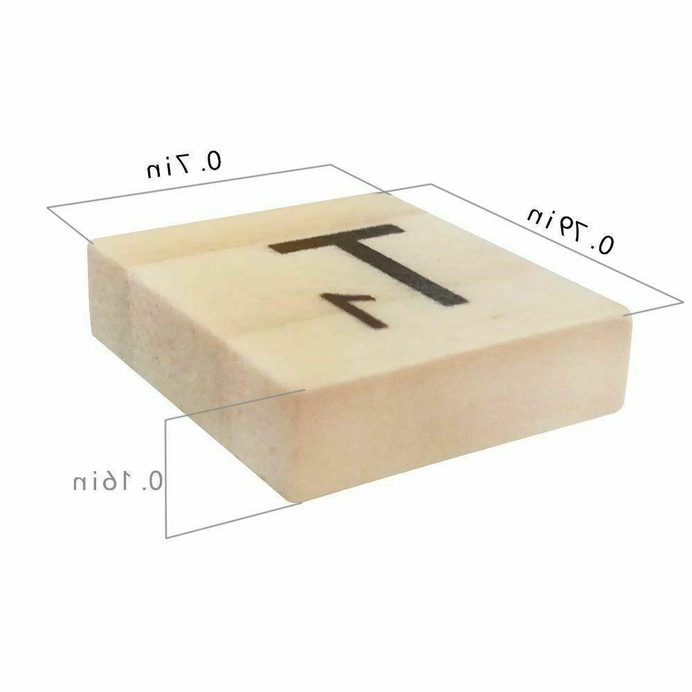 500pcs Letters Scrabble Tiles Game &Crafts US