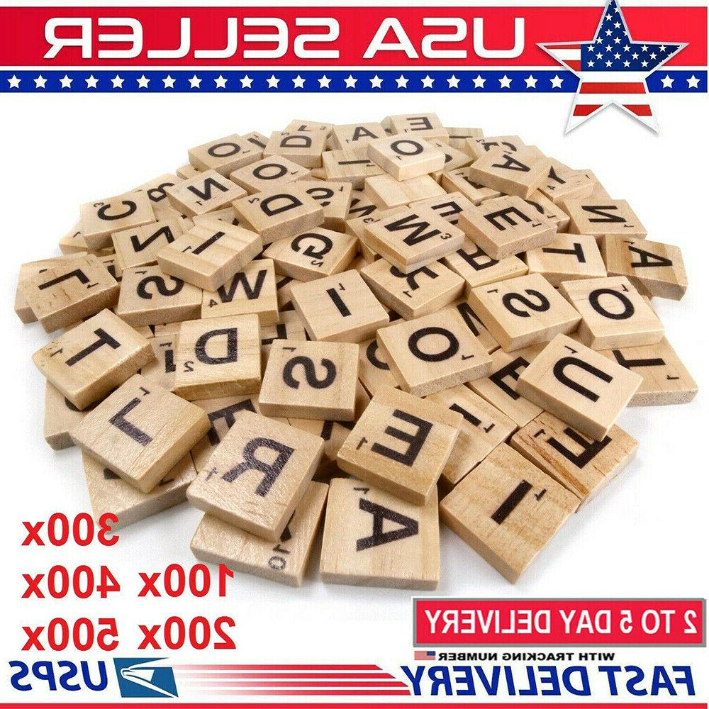 500pcs wooden letters alphabet letters for game