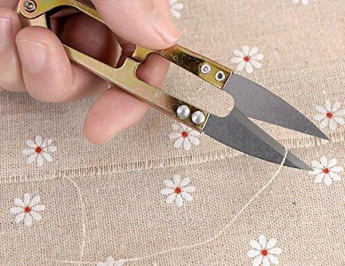 5Pcs Thread Scissors Nipper Thrum Yarn US