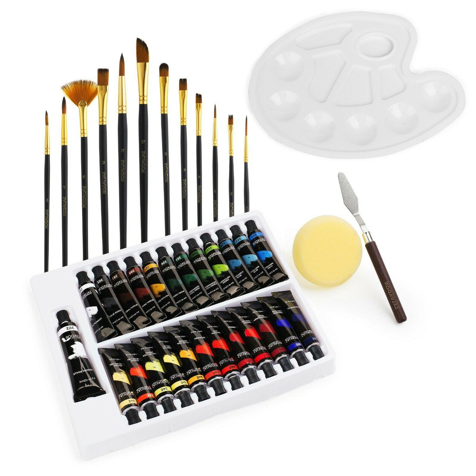 Salvador Acrylic Paint Set Colors, Paint and Kids
