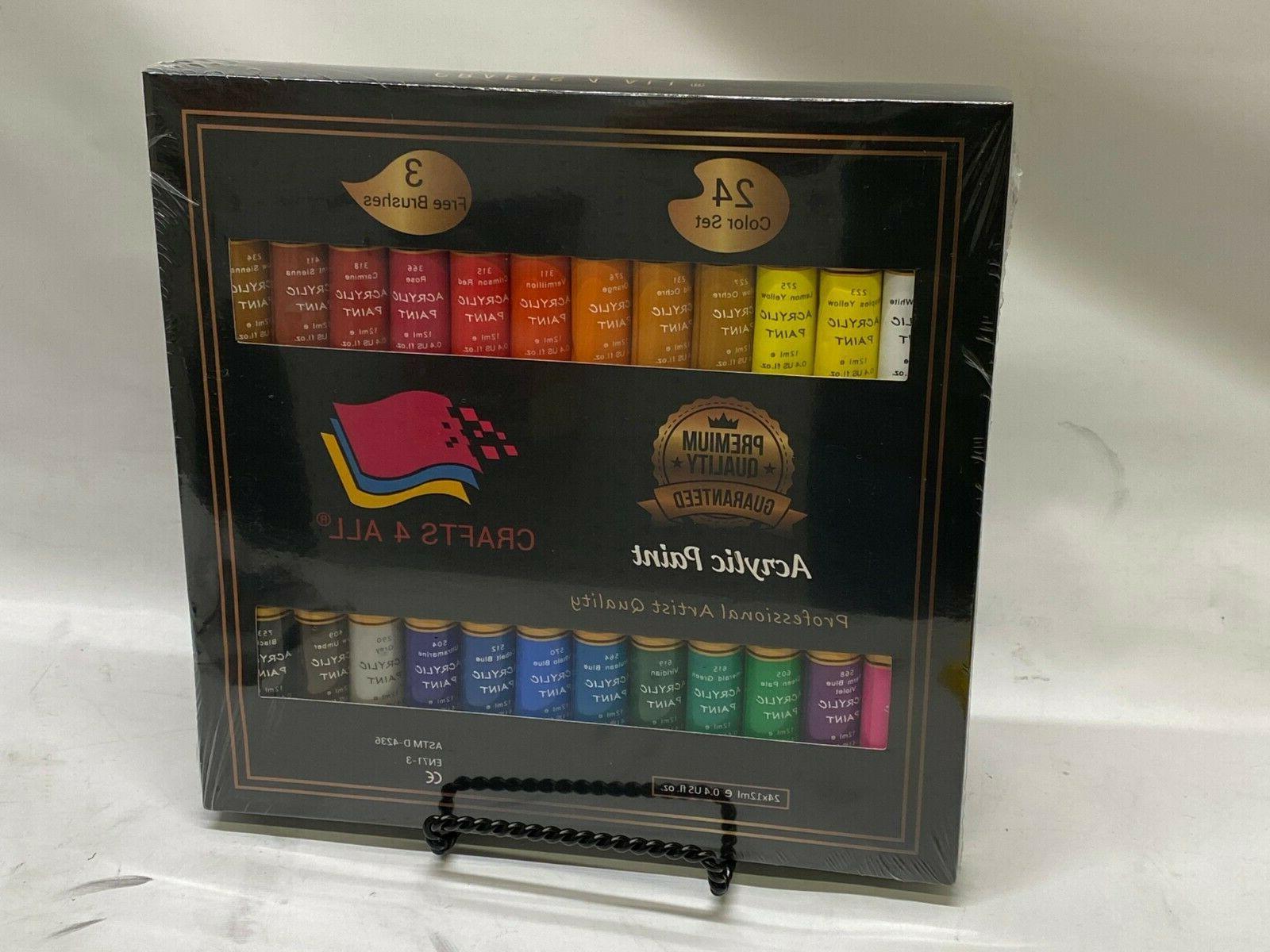 acrylic paint set 24 x 12 ml
