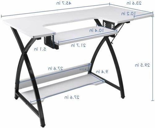 Computer Desk Platform w/Shelves