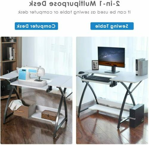 Adjustable Sewing Table Computer