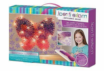 Arts And Crafts For Girls Kit LED String Art Diys Kids 8-13