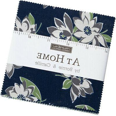 at home blue moda charm pack 42