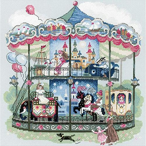 carousel counted cross stitch kit
