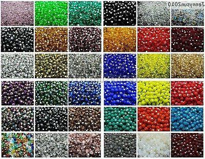 czech crystal 4mm faceted round loose beads