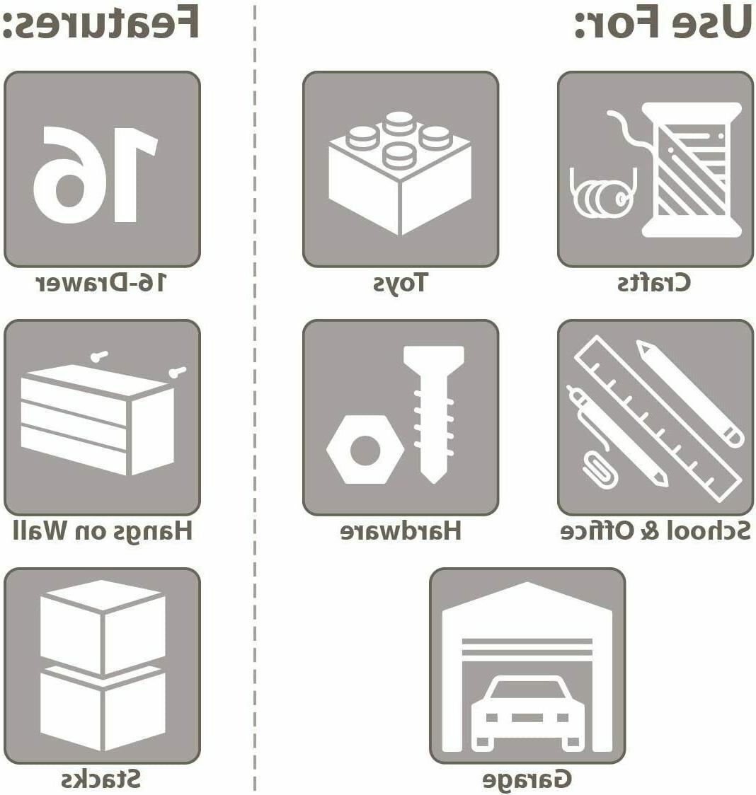 Drawer Parts Organizer Hardware Box