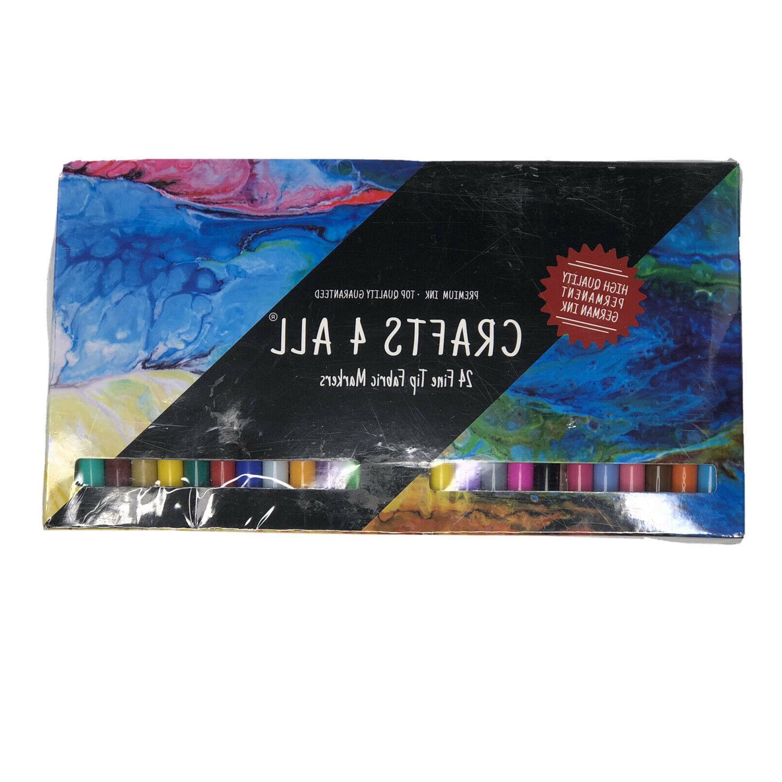 fabric markers pens permanent 24 colors fine