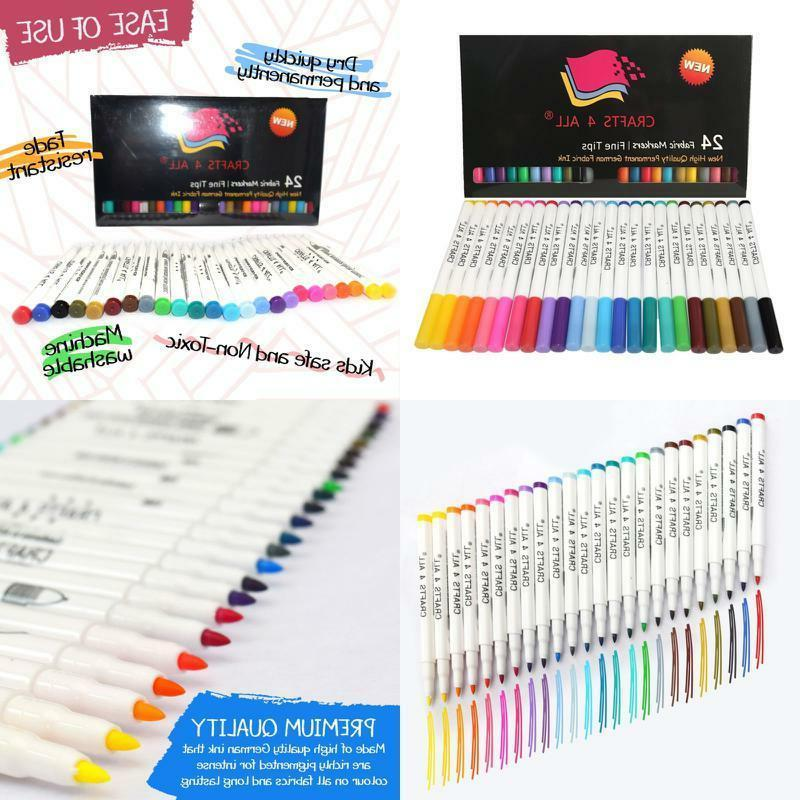 fabric markers permanent coloring pens