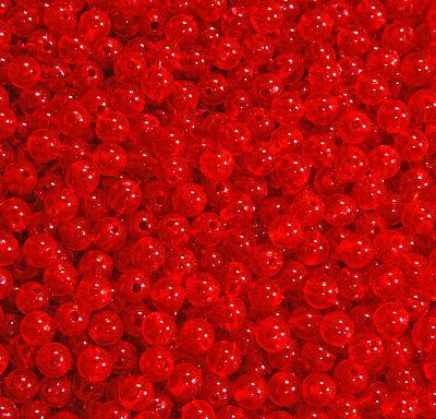 fire red 6mm round beads 500pc usa